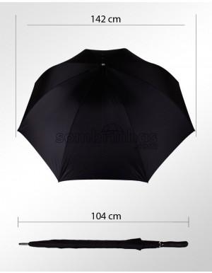 Guarda-Chuva Portaria Premium Maxi Vento Forte Preto