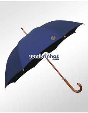 Guarda-Chuva Retrô Náutico Fiberglass em Madeira Azul Premium