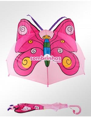 Sombrinha Infantil Borboleta com Orelhinha
