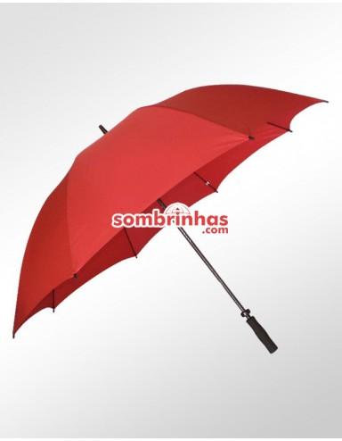 Guarda-Chuva Maxi Golf Fiberglass Vermelho Premium