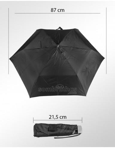 Guarda-Chuva Super-Mini Fazzoletti Preto com Estojo