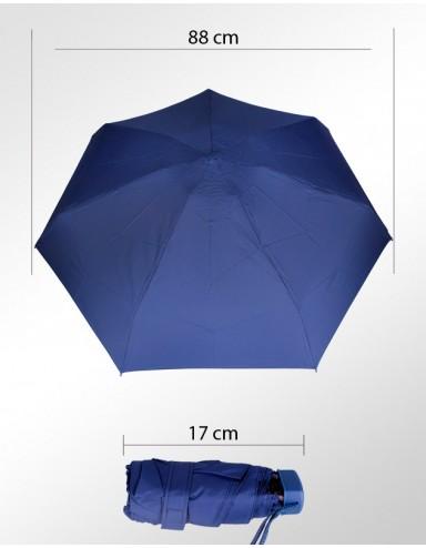 Sombrinha Super-Mini Fazzoletti Azul Lisa