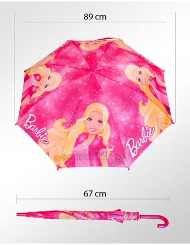 Sombrinha Disney Infantil Barbie