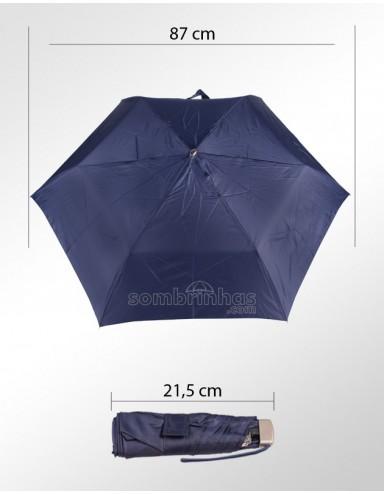 Guarda-Chuva Super-Mini Fazzoletti Azul com Estojo