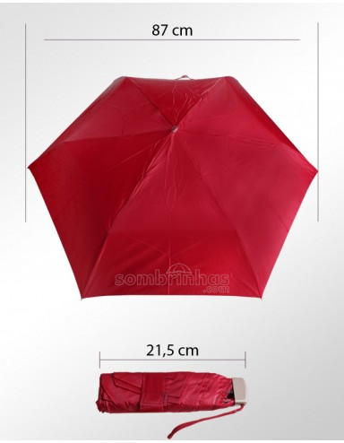 Guarda-Chuva Super-Mini Fazzoletti Bordo com Estojo