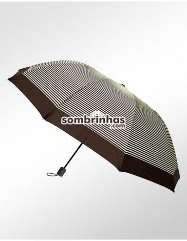 Sombrinha Duo Crome Maxi Vento Marrom