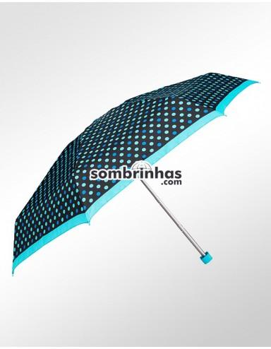 Sombrinha Super-Mini Fazzoletti Poá Azul