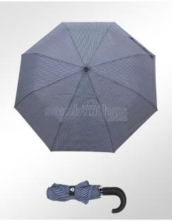 Guarda-Chuva Abre e Fecha Automático Esport Fino Azul