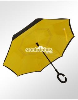 Guarda-Chuva Invertido Fecha ao Contrário Amarelo