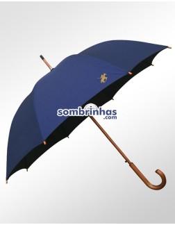 Guarda-Chuva Retrô Polo Fiberglass em Madeira Azul Premium