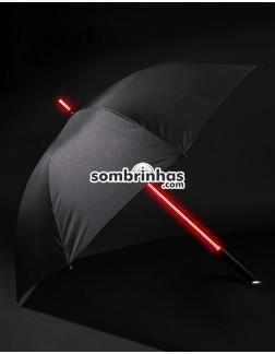 Guarda-Chuva Star Wars com Sabre de Luz em LED 7 Cores e Lanterna