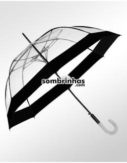 Guarda-Chuva Transparente Sky Dome Fiberglass Preto Premium