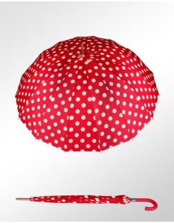 Sombrinha Ronchetti Vermelha Bolinhas