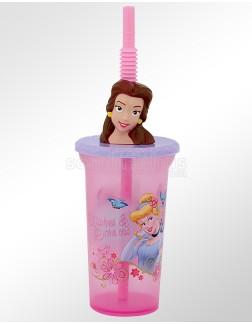 Copo Canudo 3D Princesas  440ml