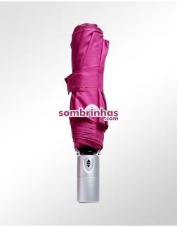 Sombrinha Fazzoletti Abre e Fecha Automático Rosa