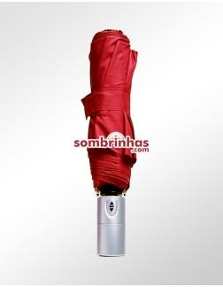 Sombrinha Fazzoletti Abre e Fecha Automático Vermelha
