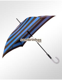 Sombrinha Francesa Quadrada Azul e Marrom Premium