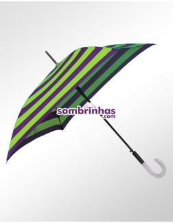 Sombrinha Francesa Quadrada Roxa e Verde Lima Premium