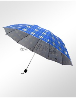 Sombrinha Proteção Solar Dobrável Xadrez Italiano