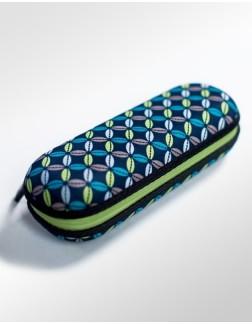 Sombrinha Super Mini com Estojo Fazzoletti Fiori Azul e Verde
